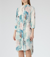 Reiss Devah PRINTED SHIRT DRESS