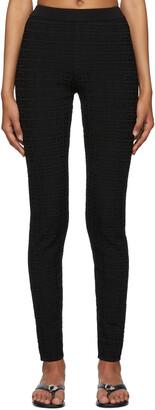 Givenchy Black Jacquard 4G Leggings