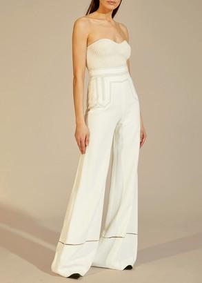 KHAITE The Vera Pant in White