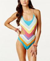 Bar III Crochet Chevron Monokini, Created for Macy's Women's Swimsuit