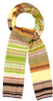 Missoni Multicolor Open Knit Scarf