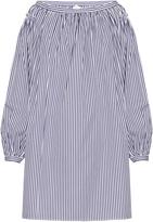 Maison Rabih Kayrouz Striped cotton-poplin off-the-shoulder dress