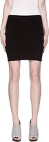 Helmut Lang Helmut Black Twill Ribbed Mini Skirt