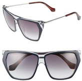 Balenciaga Women's 58Mm Gradient Sunglasses - Blck Crystal/ Havana/ Gradient