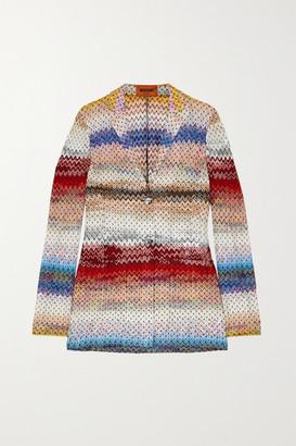 Missoni Crochet-knit Blazer - Red