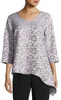 Caroline Rose Mosaic Moonbeam Asymmetric Tunic, Petite