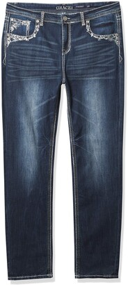 Grace in LA Women's Curvy Plus Size Skinny Jean