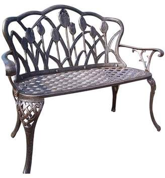 Brayden Studio Farrior Aluminum Garden Bench Brayden Studio Color: Antique Bronze
