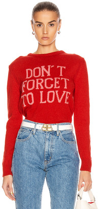 Alberta Ferretti Don't Forget To Love Sweater in Red & Pink | FWRD