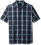 Perry Ellis Men's Big and Window Pane Pattern Shirt
