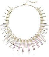 """Kendra Scott Kaplan Gold Dichroic Glass Necklace, 16"""" + 2"""" Extender"""