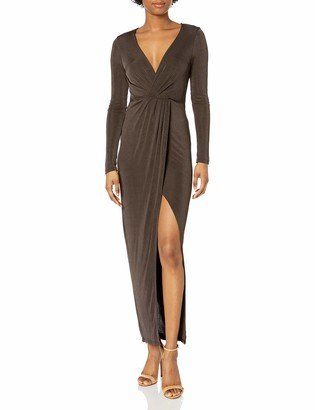 ASTR the Label Women's Valerie Shirred Long Sleeve Maxi Dress