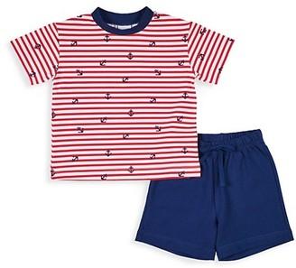 Florence Eiseman Baby's & Little Boy's 2-Piece Anchor T-Shirt & Shorts Set