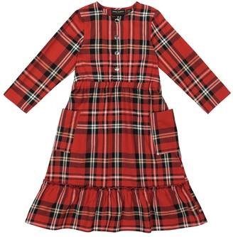 Mini Rodini Checked cotton flannel dress