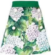 Dolce & Gabbana hydragenea print skirt