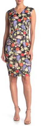 T Tahari V-Neck Floral Dress