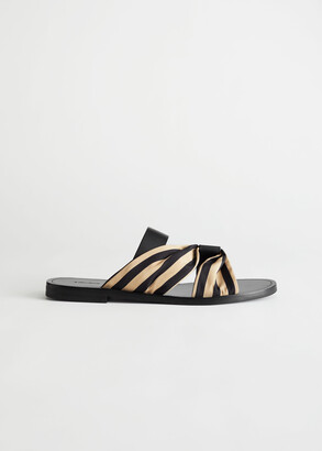 And other stories Striped Strap Leather Sandals
