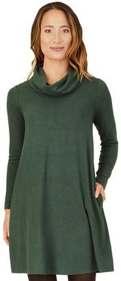 Apt. 9 Women's Long Sleeve Cowlneck Rib Swing Dress