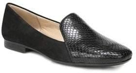Naturalizer Emiline Snake Print Leather Smoking Loafers
