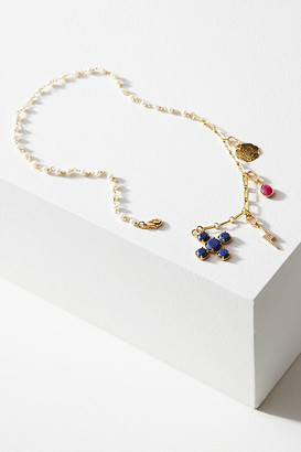 Ayana Designs Dhalia Charm Necklace By Ayana Designs in Blue