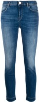 Pinko belted skinny-fit jeans