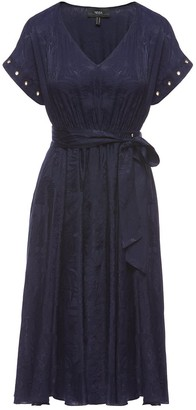 Nissa Waist Detail Pleated Dress
