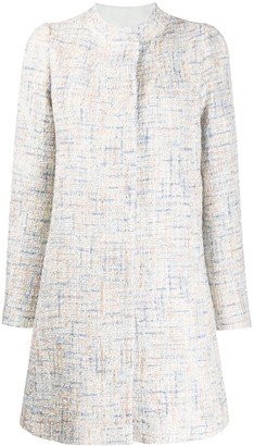 Emporio Armani Tweed Tailored Coat