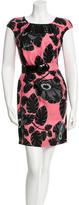 Versace Floral Print Belted Dress