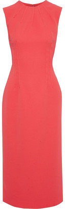 Emilia Wickstead Erlinda Pintucked Stretch-crepe Midi Dress