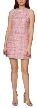 Betsey Johnson Imitation-Pearl Tweed Dress