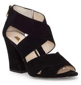 Louise et Cie Kriztsa Block Heel Leather Sandals