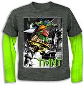 Freeze Charcoal & Green TMNT Skate Layered Tee - Boys