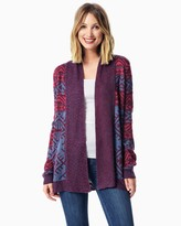 Charming charlie Geo Stitched Open Cardigan