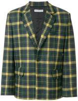 Gosha Rubchinskiy checked long sleeve blazer