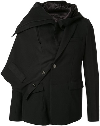 Fumito Ganryu short asymmetric jacket