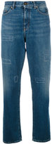 Saint Laurent high-waisted straight leg jeans - women - Cotton - 26
