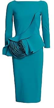 Chiara Boni Women's Morny Flower Ruffle Dress