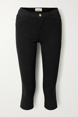 Frame Le High Pedal Pusher Cropped Skinny Jeans - Black