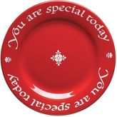"Waechtersbach You Are Special Today"" Red Plate"