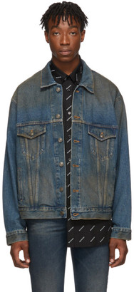 Balenciaga Blue Denim Signature Big Fit Jacket
