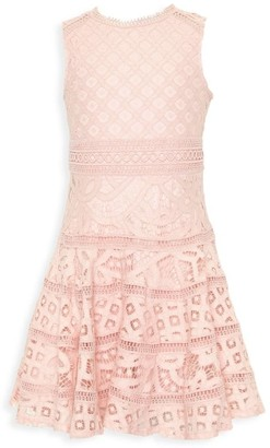 Bardot Junior Girl's Elise Lace Fit-&-Flare Dress