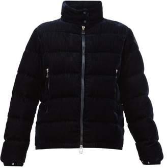 Moncler Copenhague Velvet-corduroy Down-filled Jacket - Womens - Navy