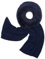 Tory Burch Cashmere & Fox Fur Wrap