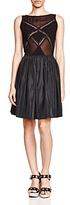 The Kooples Sheer Paneled Satin Skirt Dress