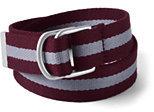 Classic Boys Web D-Ring Belt-Merlot/Light Graphite