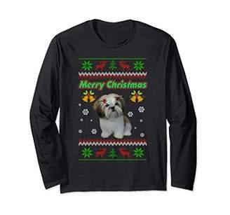 Shih Cute Tzu Merry Christmas For Men Women Kids Long Sleeve T-Shirt