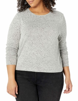 Forever 21 Women's Plus Size Marled Long Sleeve Top