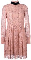MSGM long sleeved lace dress