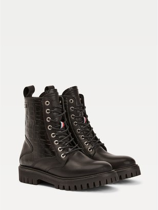 Tommy Hilfiger Croc Accent Boot