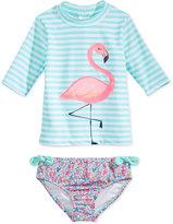 Carter's 2-Pc. Flamingo Rashguard Swimsuit, Toddler & Little Girls (2T-6X)